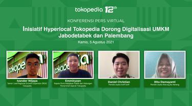 Acara Virtual Local Media Briefing dengan topik Inisiatif Hyperlocal Tokopedia Dorong Digitalisasi UMKM Jabodetabek dan Palembang