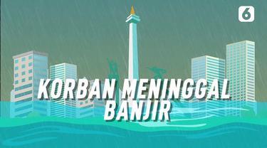 Pusat Pengendalian Operasi (Pusdalops) BNPB mencatat korban jiwa akibat banjir Jakarta dan sekitarnya berjumlah 9 orang.