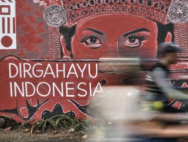 FOTO: Mural Kemerdekaan Sambut HUT ke-75 RI
