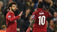 Mohamed Salah dan Sadio Mane. (AFP/Oli Scarff)