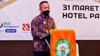 Ketua Gapki Riau yang juga CEO PTPN V, Jatmiko K Santosa. (Liputan6.com/M Syukur)