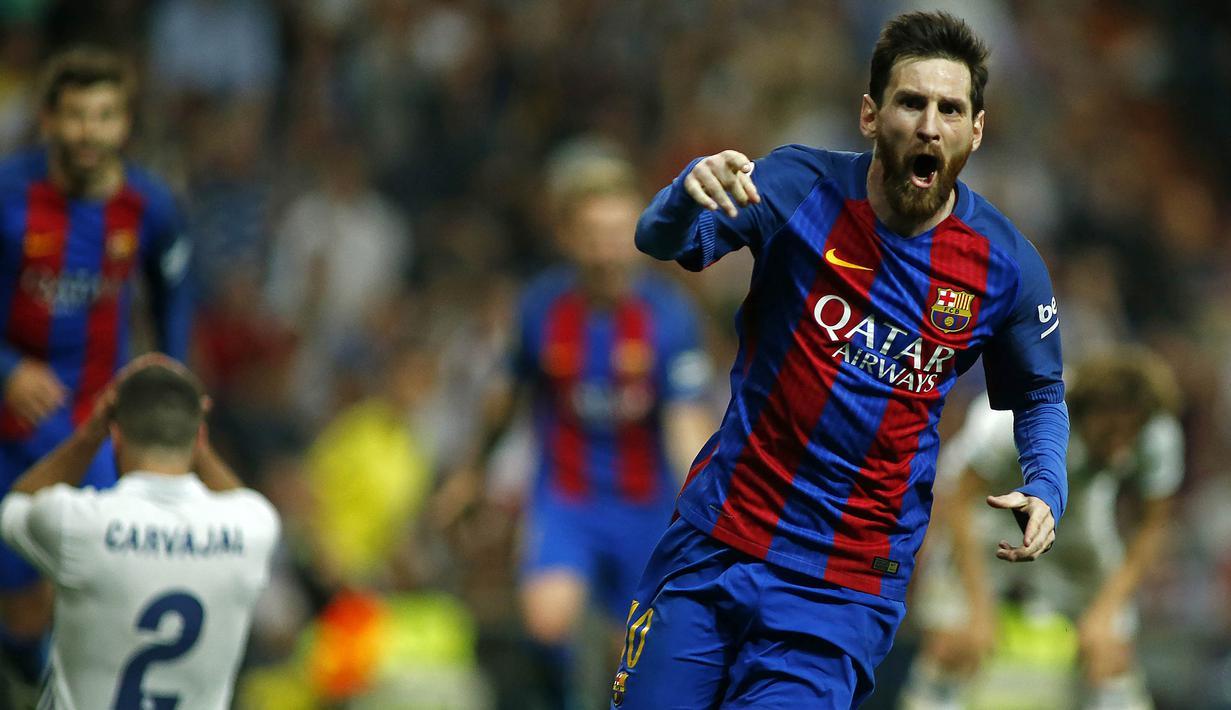 FOTO Selebrasi Khas Lionel Messi Bersama Barcelona Spanyol Bolacom