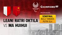 Leani Ratri Oktila vs Ma HuiHui (CHINA)