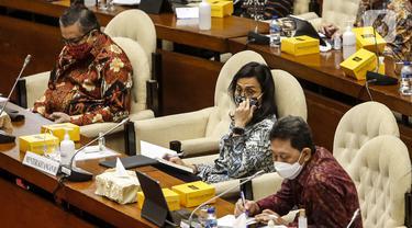 FOTO: Sri Mulyani Bahas Program PEN Bersama Komisi XI DPR