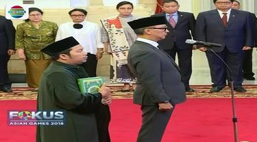 Idrus Marham sebagai tersangka, Presiden Joko Widodo melantik penggantinya, yakni Agus Gumiwang Kartasasmita sebagai Menteri Sosial yang baru.