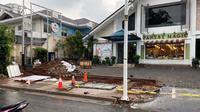 Dinas Bina Marga DKI Jakarta merevitalisasi trotoar di kawasan Kemang, Jakarta Selatan. (istimewa)