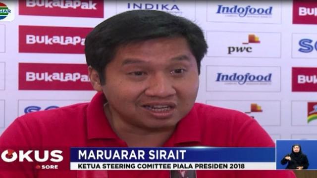 Dua tim tangguh Persija Jakarta dan Bali United akan bertemu dalam final Piala Presiden 2018. Final akan diadakan pada Sabtu 17 Februari 2018.