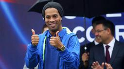 Ronaldinho sekarang ini menjabat sebagai salah satu duta dari Barcelona. (AFP/Handout)