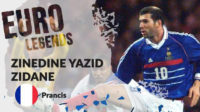 Berita motion grafis profil legenda Zinedine Zidane, seniman sepak bola dari Prancis.