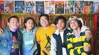 Momen Reuni Grup Musik Coboy Junior. (Sumber: Instagram.com/iqbaal.ecrib)