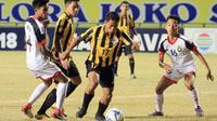 Malaysia U-16 mengalahkan Brunei U-16 6-1, Jumat (3/8/2018), di Stadion Gelora Joko Samudro, Gresik.