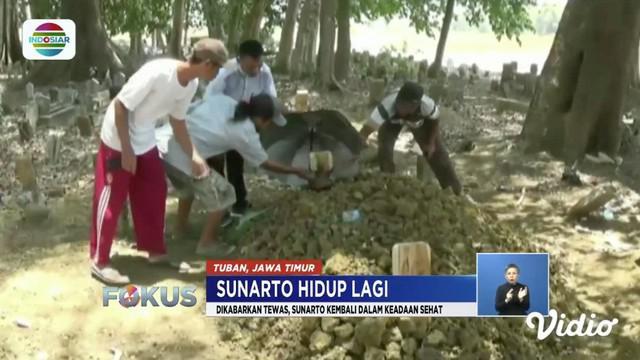 Apa jadinya jika orang yang sudah dimakamkan ternyata kembali pulang ke rumah. Peristiwa ini terjadi di Tuban, Jawa Timur, dan menjadi viral di media sosial. Bagaimana peristiwa aneh ini bisa terjadi? Selengkapnya dalam Indonesia Viral.