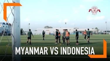 Timnas Indonesia U-22 akan menantang Myanmar dalam laga perdana Piala AFF 2019, di Olympic Stadium, Senin 18 Februari 2019.
