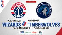 Jadwal NBA, Washington Wizards Vs Minnesota Timberwolves. (Bola.com/Dody Iryawan)