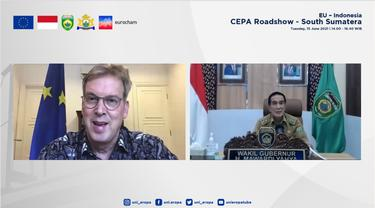 Konferensi Virtual EU-Indonesia CEPA di Sumatera Selatan