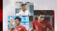 Rizky Ridho, Evan Dimas dan Saddam Emiruddin Gaffar. (Bola.com/Dody Iryawan)