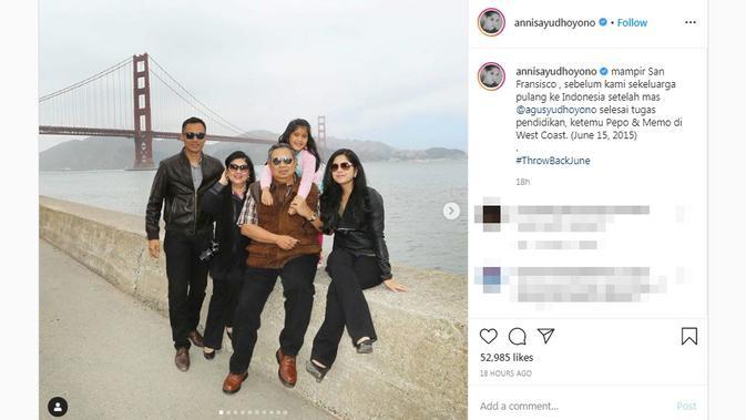 Annisa Pohan Bagikan Potret Kenangan Bersama Ani Yudhoyono di San Fransisco