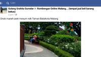 Aksi mesum di alun-alun hebohkan warga Malang (Liputan6.com/Zainul Arifin)