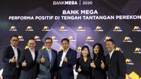 Bank Mega bukukan membukukan laba bersih sebesar Rp 2 triliun sepanjang 2019.