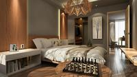 Kamar tidur harus didesain sedemikian rupa agar memiliki suasana tenang, lebih teang dibanding ruang-ruang lain di dalam hunian.