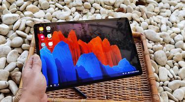 Samsung Galaxy Tab S7 Plus. Liputan6.com/Iskandar