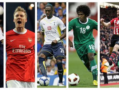 Kumpulan foto-foto sejumlah pemain kelas dunia yang melakukan gol cepat bagi klubnya masing-masing. (Foto: AFP)