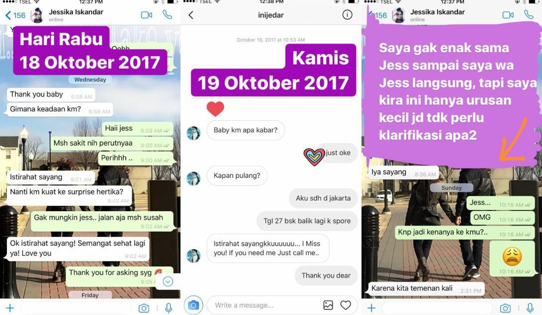 Chacha buktikan hubungannya dengan Jessica Iskandar baik-baik saja [foto: Instagram/chafrederica]