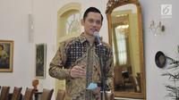 Ketua Kogasma Partai Demokrat Agus Harimurti Yudhoyono(AHY) memberi keterangan usai bertemu Presiden Joko Widodo di Istana Kepresidenan Bogor, Jabar, Rabu (22/5/2019). AHY mengajak semua pihak menjaga suasana pascapengumuman hasil rekapitulasi suara Pilpres 2019 oleh KPU.(Liputan6.com/HO/Setkab/Oji)