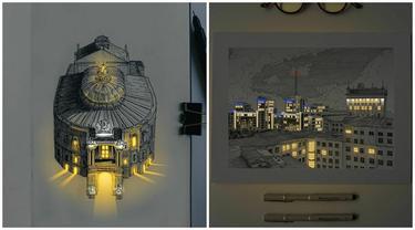 6 Lukisan dengan Pencahayaan Buatan Ini Bak Sinar Sungguhan, Bikin Kagum