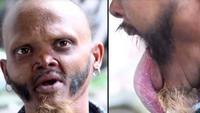 pria miliki lidah terpanjang (foto: ladbible)