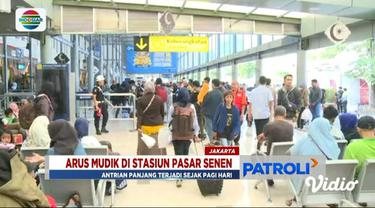 Kamis (30/5) ini ada 25 ribu penumpang yang diberangkatkan ke sejumlah kawasan di Pulau Jawa dari Stasiun Pasar Senen.
