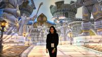 Jurnalis SCTV, Rebecca Tetha hadir langsung di perhelatan akbar BlizzCon 2019, di kota Anaheim, California, Amerika Serikat, beberapa waktu lalu.  (FOTO / Ist)