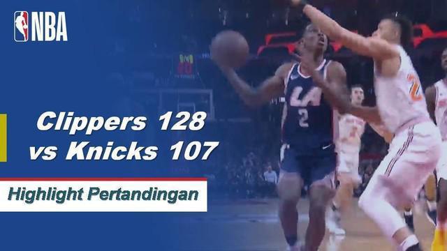 Six Clippers skor 15+ poin karena Los Angeles mengalahkan New York 128 - 107