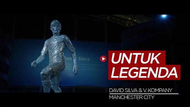 Berita Video, Manchester City Buatkan Patung untuk Berikan Penghargaan Kepada David Silva dan Vincent Kompany