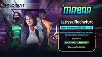 Main bareng Valorant bersama Larissa Rochefort, Sabtu (12/12/2020) pukul 19.00 WIB dapat disaksikan melalui platform Vidio, laman Bola.com, dan Bola.net. (Dok. Vidio)