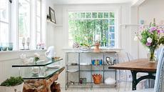 Gaya eklektik pada dasarnya adalah gabungan yang kontras antara gaya minimalis dengan gaya klasik yang penuh detail. Perpaduan antara warna putih yang mewakili modernitas, dengan warna tanah dan kayu, yang erat dengan unsur klasik.(decoist.com)