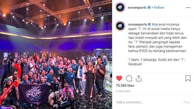 EVOS Legends menjuarai M1. (Doc: Instagram/ Evos Esports)