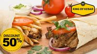 Bagi penggemar kebab, kini hadir olahan sempurna makanan dari roti tortilla dengan isian daging kaya rempah di King of Kebab