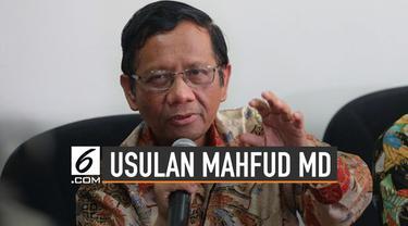 Mahfud MD bersama sejumlah tokoh bertemu dengan Presiden Jokowi. Membahas sejumlah isu termasuk UU KPK hasil revisi.