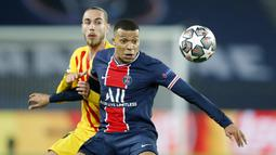 Kylian Mbappe. Striker Paris Saint-Germain asal Prancis berusia 22 tahun ini menjadi pencetak gol terbanyak kedua Liga Champions musim ini dengan mencetak 8 gol dari 10 laga. Langkah PSG terhenti di babak semifinal usai kalah dari Manchester City. (AP/Christophe Ena)