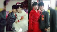 Pasangan asal China kini tengah menjadi perbincangan sosial media China karena menikah di bawah umur. (Asia One)