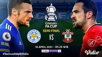 Duel Leicester City vs Southampton dapat disaksikan llive streaming melalui platfrom Vidio. (Dok. Vidio)