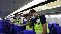 . Jajaran Direksi Sriwijaya Air menggelar aircraft cleaning. Dok Sriwijaya Air
