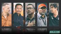 5 Pelatih Liga 1 Indonesia (Bola.com/Adreanus Titus)