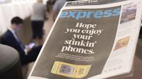 Surat kabar Express yang diterbitkan oleh The Washington Post harus tutup produksi karena kalah saing dengan penggunaan smartphone (Foto: Washington Times)