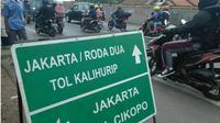 Arus Balik di Jalur Pantura Subang - Karawang. (Liputan6.com/Abramena)