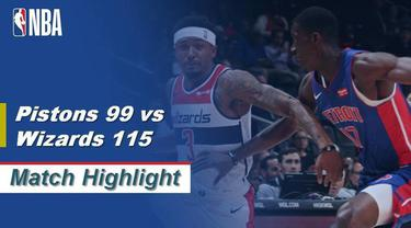 Berita Video Highlights NBA 2019-2020, Detroit Pistons Vs Washington Wizards 99-115