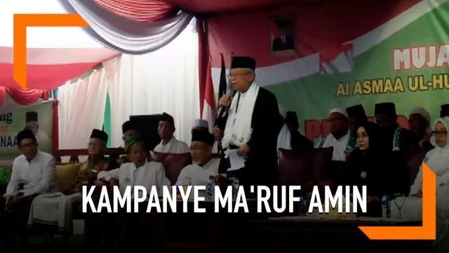 Kampanye di wilauyah Cilacap Cawapres Jokowi Ma'ruf Amin mengunjungi Ponpes Salafiah Majenang. Ma'ruf Amin melantik pengurus NU setempat dan meminta dukungan warga NU menjadi Cawapres Jokowi