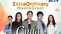 Cinta Tapi Benci gelar 3xtraOrdinary Meet & Greet untuk penggemar di Surabaya dan sekitarnya, Sabtu (3/10/2020) live streaming di Vidio