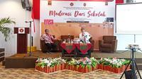 Dialog mederasi dari sekolah yang laksanakan oleh BNPT bersama FKPT Sulawesi Barat (Foto: Liputan6.com/Abdul Rajab Umar)